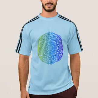 カラフルは民族の花の曼荼羅のデザインを抽出します Tシャツ