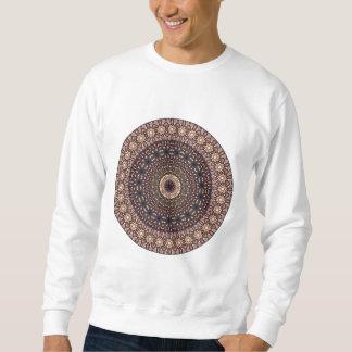 カラフルは民族の花の曼荼羅パターンを抽出します スウェットシャツ