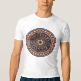 カラフルは民族の花の曼荼羅パターンを抽出します Tシャツ