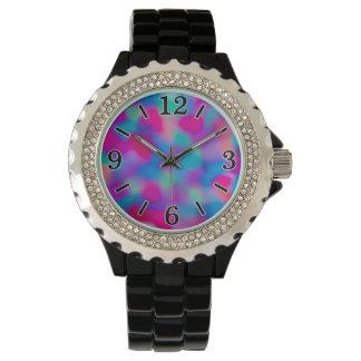 カラフルは水彩画パターンを抽出します 腕時計