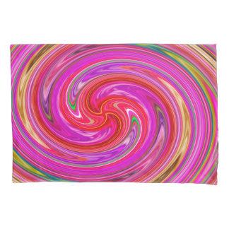 カラフルは紫色および薄紫の回転を抽出します 枕カバー