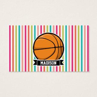 カラフルは縞で飾ります; バスケットボール 名刺