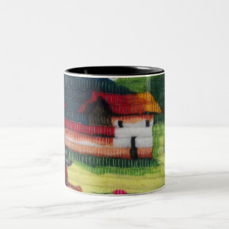 カラフルは、美しい家325ml 2調子のマグを黒くします ツートーンマグカップ