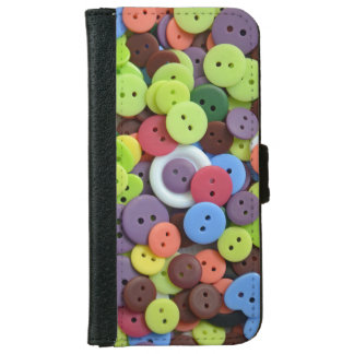 カラフルボタンパターンiphoneのウォレットケース iPhone 6/6s ウォレットケース