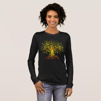 カラフル生命の樹 長袖Tシャツ