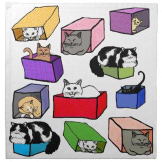 カラフル箱のアメリカ人のMoJoのナプキンの猫 ナプキンクロス