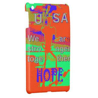 カラフル米国ヒラリーの希望私達は一緒により強いです iPad MINIケース