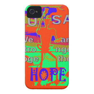 カラフル米国ヒラリーの希望私達は一緒により強いです iPhone 4 ケース