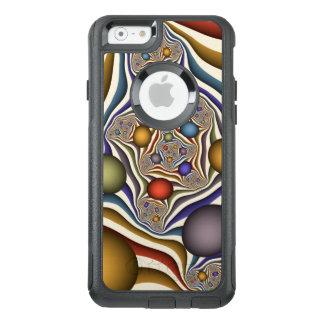 、カラフル飛んで、モダンは、フラクタルの芸術を抽出します オッターボックスiPhone 6/6Sケース