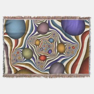 、カラフル飛んで、モダンは、フラクタルの芸術を抽出します スローブランケット
