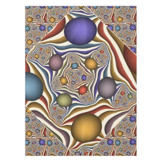 、カラフル飛んで、モダンは、フラクタルの芸術を抽出します テーブルクロス