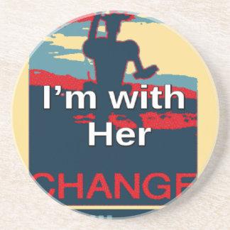 カラフル2016年私はヒラリー米国Sのための彼女の投票とあります コースター