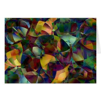 カラフル、目まぐるしい抽象美術 カード