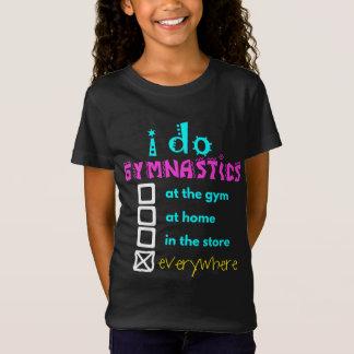 カラフル-私は体操をどこでもします Tシャツ