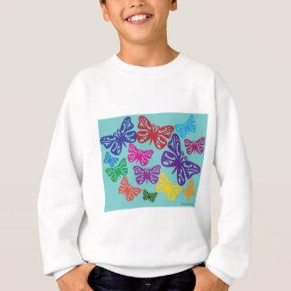 カラフルButterflies.png スウェットシャツ