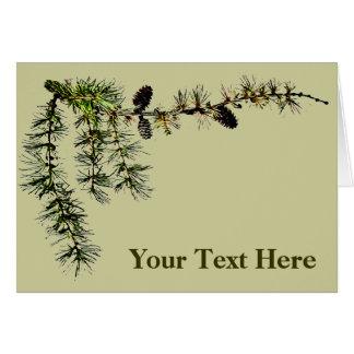 カラマツの枝 カード