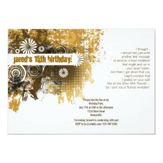 カラメルの栄光の招待状 カード
