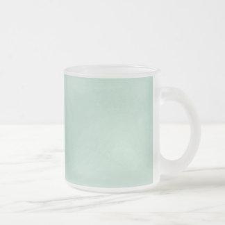 カラメル状のカラメルの氷った青い背景の壁紙 フロストグラスマグカップ