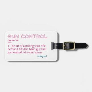"""カラーガードのおもしろいなライフル""""銃砲規制"""" ラゲッジタグ"""