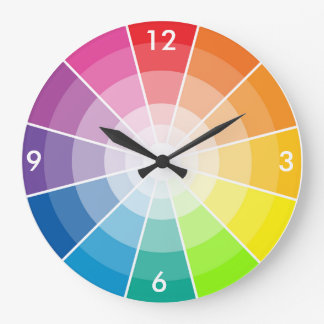 カラーホイールライト ラージ壁時計