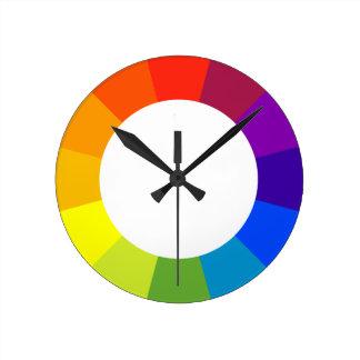 カラーホイール ラウンド壁時計