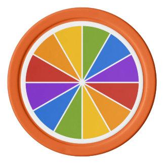 カラーホイール/光線のカスタムなポーカー用のチップ ポーカーチップ