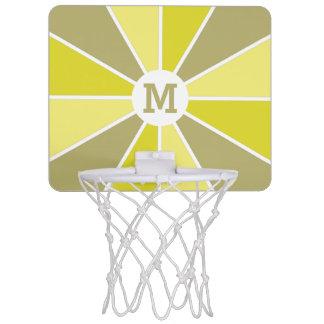 カラーホイール/光線のカスタムなモノグラムの小型たが ミニバスケットボールゴール