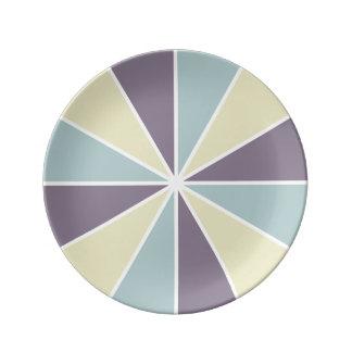 カラーホイール/光線のカスタムの磁器皿 磁器プレート