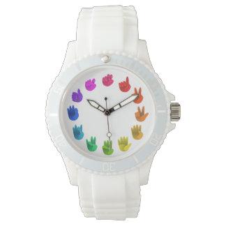 カラーホイールaslの手話数 腕時計