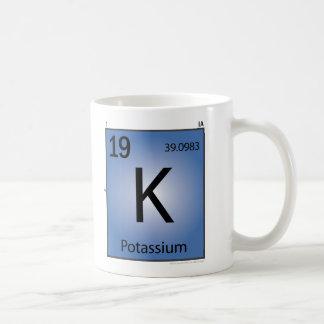 カリウム(k)の要素のマグ コーヒーマグカップ