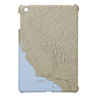 カリフォルニアおよびネバダの立体模型地図 iPad MINI CASE