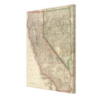 カリフォルニアおよびネバダ キャンバスプリント