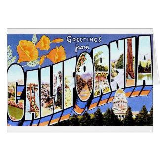 カリフォルニアからの挨拶 カード