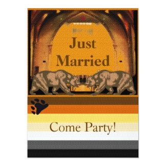 カリフォルニアくまのたった今結婚しましたのパーティの招待状 カード
