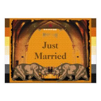 カリフォルニアくまのプライドのたった今結婚しましたポスター フォトアート