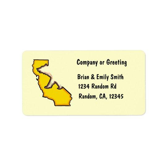カリフォルニアくまの州記号のカスタムの住所シール ラベル