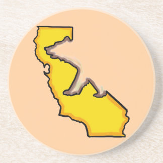 カリフォルニアくまの州記号の飲み物用コースター コースター