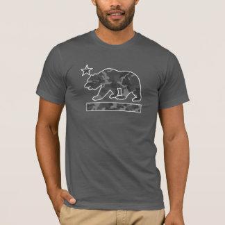 カリフォルニアくまの旗(都市迷彩柄) Tシャツ