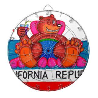 カリフォルニアくまの足の旗 ダーツボード