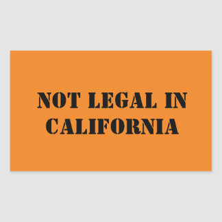 カリフォルニアで法的 長方形シール