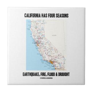 カリフォルニアに4季節の地震の火の洪水があります タイル