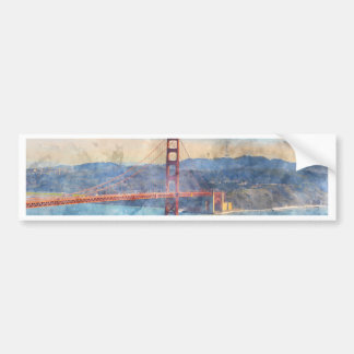 カリフォルニアのサンフランシスコのゴールデンゲートブリッジ バンパーステッカー