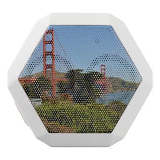 カリフォルニアのサンフランシスコのゴールデンゲートブリッジ ホワイトBluetoothスピーカー