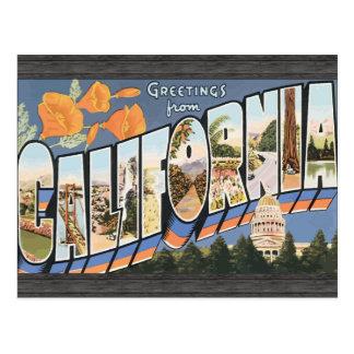 カリフォルニアのヴィンテージからの挨拶 ポストカード