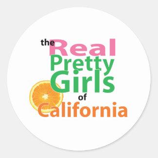 カリフォルニアの実質のかわいらしい女の子 ラウンドシール