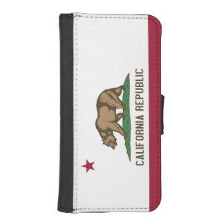 カリフォルニアの旗が付いている愛国心が強いウォレットケース iPhoneSE/5/5sウォレットケース
