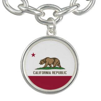 カリフォルニアの旗が付いている愛国心が強い魅力のブレスレット チャームブレスレット