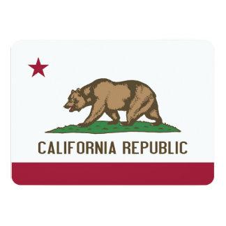 カリフォルニアの旗を持つ愛国心が強い招待状 カード