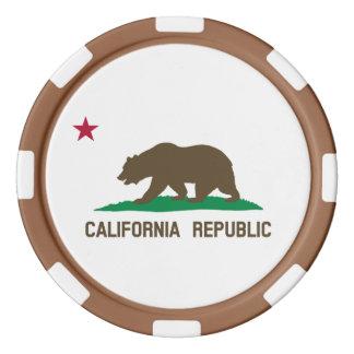 カリフォルニアの旗 ポーカーチップ