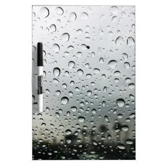 カリフォルニアの風防ガラスの雨低下 ホワイトボード